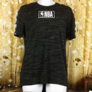 NBA basketball t-shirt sz M black and white